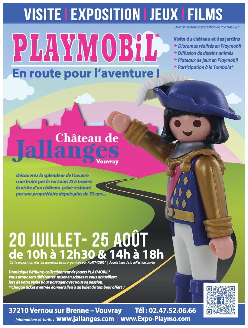 Affiche exposition playmobil chateau jallanges ete 2019 dominique bethune