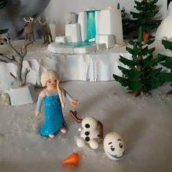 La Reine des neiges, custom réalisé à base de Playmobil