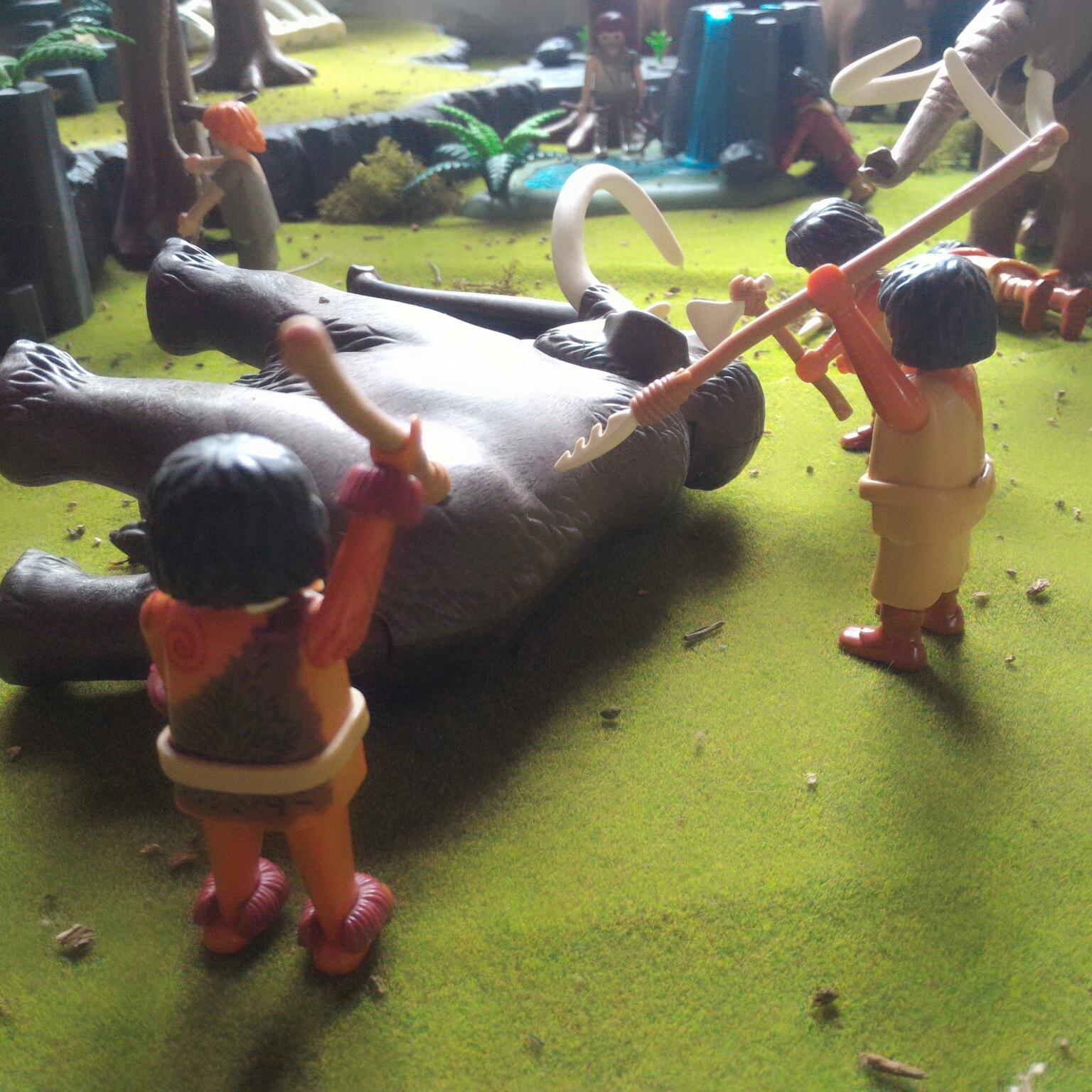 Les hommes préhistoriques en Playmobil