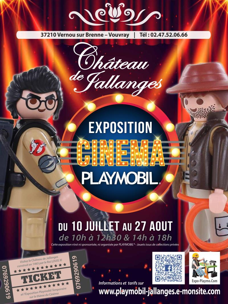 Exposition playmobil cinema au chateau de jallanges par le collectionneur dominique bethune 2017